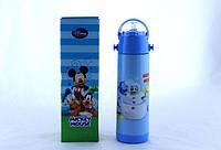 Термос для мальчика zk g 604 500ml. Blue Синий, детский термос с поилкой .