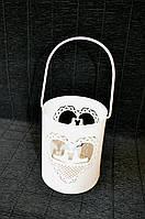 Підсвічник металевий Голуби 10*13 см Подсвечник металлический белый