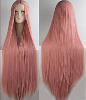 Карнавальный светло розовый парик