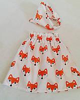 Комплект юбка + бандана 100% хлопок, фото 1