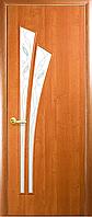 Двери межкомнатные Новый Стиль, МОДЕРН, модель Лилия Экошпон, со стеклом сатин с рисунком Р3