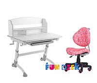 Детская парта-трансформер FunDesk Volare II Grey + Детское кресло SST5
