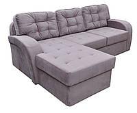 Современный угловой диван Порто с фигурными мягкими  подлокотниками