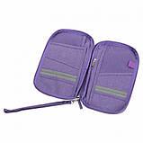 Многофункциональный органайзер Органайзер для путешествий AviaTravel+ 14х26 см (фиолетовый), фото 3