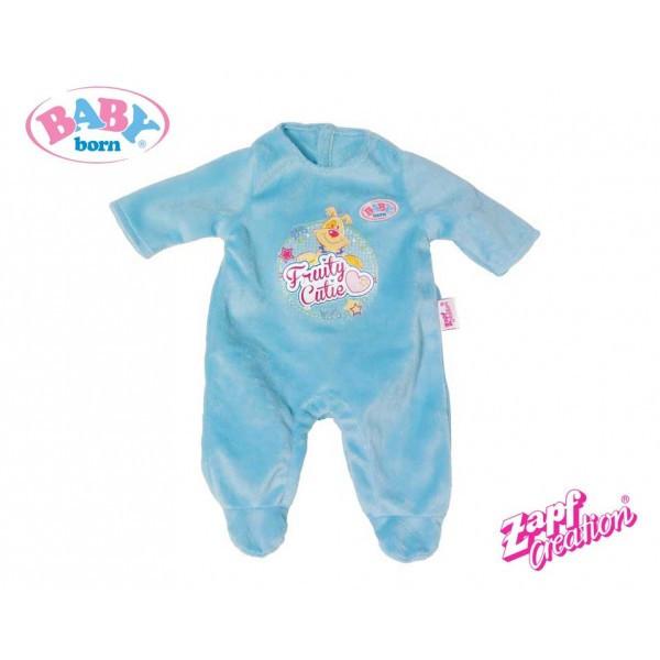 Комбинезон куклы Беби Борн Baby Born велюровый голубой Zapf Creation 822128
