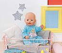 Комбинезон куклы Беби Борн Baby Born велюровый голубой Zapf Creation 822128, фото 3