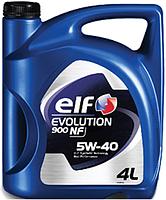 Cинтетическое масло для бензиновых и дизельных авто ELF EVOLUTION 900 NF 5W40 4L