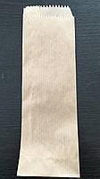 Бумажные пакеты для столовых приборов 70мм*0мм*225мм бурые, фото 1