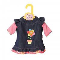Одежда для кукол Беби Борн Джинсовое платье Baby Born Zapf Creation 870006 , фото 1