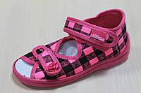 Тапочки на девочку ViGGaMi, польская детская текстильная обувь р.21,25