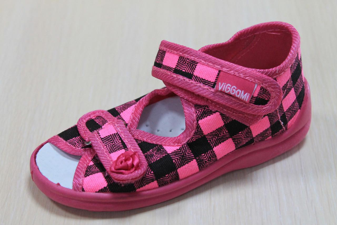 0873f19b3c32 Тапочки на девочку ViGGaMi, польская детская текстильная обувь р.21 -  BonKids - детский
