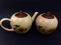 Чайные наборы чайник+сахарница в ассортименте