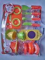 Игровой набор для девочки Набор посуды 713B на планшетке