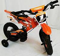 Велосипед детский 12 дюймов YUANDA YD-01 цвет оранжевый