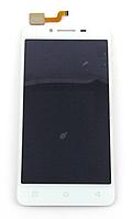 Оригинальный дисплей (модуль) + тачскрин (сенсор) для Lenovo A6600 (белый цвет)