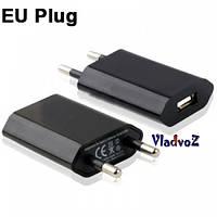 Универсальное зарядное usb для iphone, 3g, 4 G, mp3, 1A черное вилка