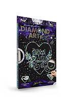 Набор для творчества Алмазная мозаика Совы и сердце DAR-01-03