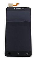 Оригинальный дисплей (модуль) + тачскрин (сенсор) для Lenovo A6600 (черный цвет)