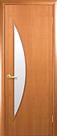 Двери межкомнатные Новый Стиль, МОДЕРН, модель Луна Финиш бумага, со стеклом сатин