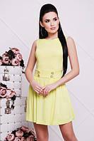 Летнее женское салатовое платье ДАНА 42-50 размеры