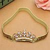 Корона на резинке МИЛА СЕРЕБРО, повязка на голову диадема детская, фото 2