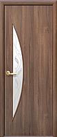 Двери межкомнатные Новый Стиль, МОДЕРН, модель Луна Финиш бумага, со стеклом сатин и рисунком Р3
