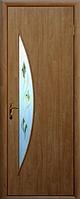 Двери межкомнатные Новый Стиль, МОДЕРН, модель Луна Финиш бумага, со стеклом сатин и рисунком Р2