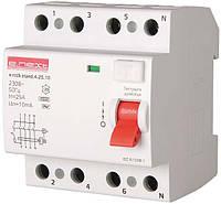 Выключатель диф. тока (УЗО) 4р 25А 10mA, фото 1