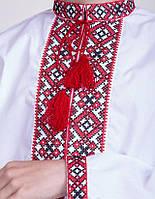 Подростковая вышитая рубашка  Тарас красный