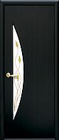 Двери межкомнатные Новый Стиль, МОДЕРН, модель Луна Экошпон, со стеклом сатин с рисунком Р1