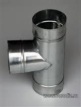 Тройник вентиляционный Ø120 мм, выход под 90º