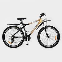Велосипед горный Profi  26 дюймов XM263D Черно-золотой