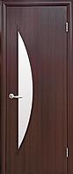 Двери межкомнатные Новый Стиль, МОДЕРН, модель Луна Экошпон, со стеклом сатин