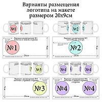 Нанесение логотипов (фото ) на сублимационные чашки
