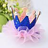 Корона детская на заколке ДЖЕССИКА корона для девочки детские украшения для волос, фото 6
