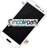 Дисплей (Модуль) + Сенсор (Тачскрин) для Samsung i9300   Galaxy S3 (С рамкой) (Тайвань TFT LCD) (Белый)