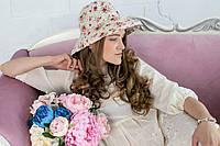 Льняная шляпа в цветы, фото 1