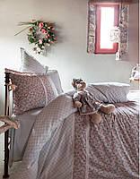 Постельное белье Karaca Home - Emily 2016 bej бежевое ранфорс + игрушка евро
