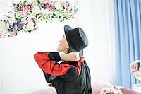 Чёрная шляпа канотье из льна