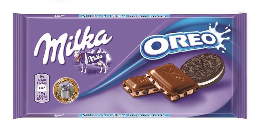Молочный шоколад Milka с печеньем Oreo 100гр. Австрия, фото 2