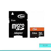 Карта памяти micro SDHC-1 32Gb Team + adapter