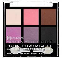 Палетка теней Modern Mattes To Go - 6 Color Eyeshadow Palette BH Cosmetics Оригинал