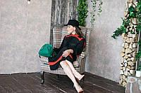Чёрная шляпа из льна