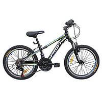 Велосипед двухколесный Profi G20A315-L-1B 20 дюймов цвет черно-салатовый
