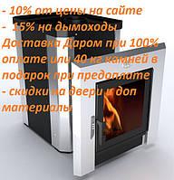 Дровяная банная печь с выносом  Novaslav Панорама ПКС-02 Кожух из нержавеющей стали