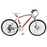 Велосипед спортивный Profi  26 дюймов EXPERT 26.2L Красно-белый