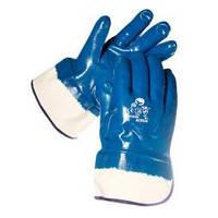 Перчатки нитрильные синие МБС (твердый манжет)