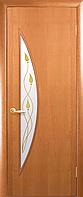 Двери межкомнатные Новый Стиль, МОДЕРН, модель Луна Финиш бумага, со стеклом сатин и рисунком Р1
