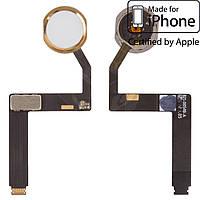 Шлейф для iPad Pro 9.7, кнопки Home, с компонентами, золотистый, оригинал