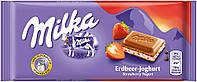 Молочный шоколад Milka Strawberry 100гр. Австрия